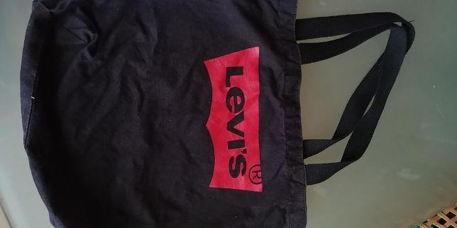 oryginalna mocna Torba Levis z mocnej bawełny drelich 42/35 cm