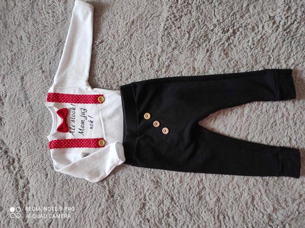 Komplet, ubranko na roczek dla chłopca rozm 86/92