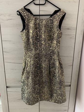 Sukienka złoto czarna