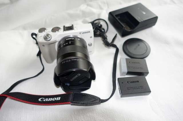 Canon M3 + ob. 18-55 OKAZJA zobacz koniecznie stan