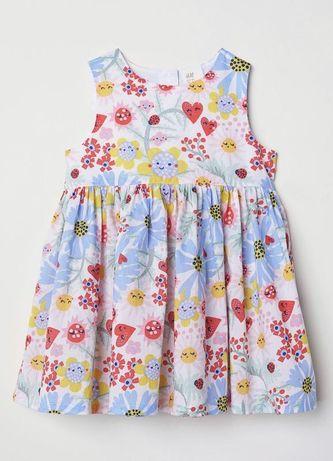 Платье h&m на малышку 4-6 месяцев платье нм девочке рост 68 см