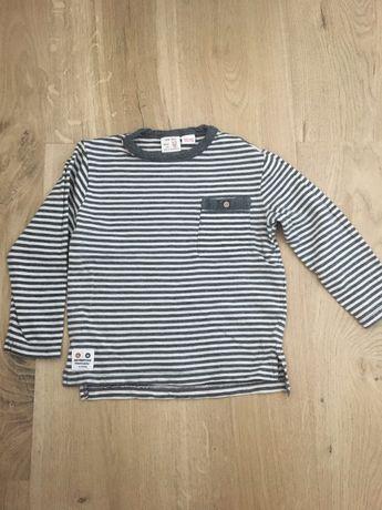 Bluzeczka Zara szara w paski 98