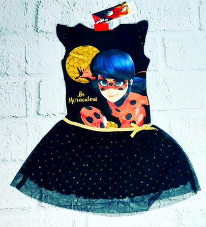 Праздничное платье Леди баг 104-140