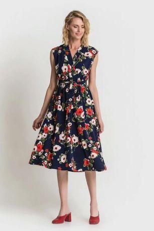 Потрясающее платье vovk в цветы, в цветочный принт