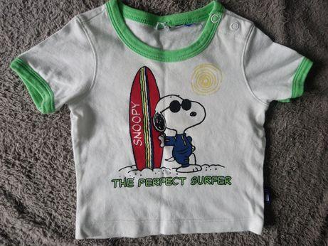 Dwie bluzki dla chłopca, snoopy