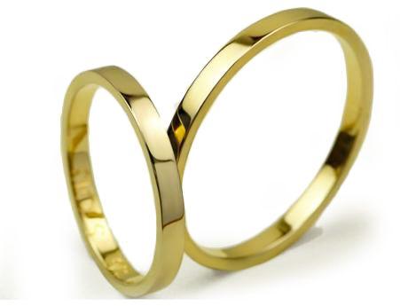 -25% Złote Obrączki pr. 585 /S013 /2mm / CHORZÓW Jubiler