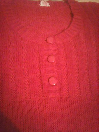 czerwony sweter ala sukienka