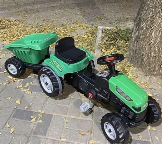 Оригинал, Турция! Трактор на педалях педальный цепной с прицепом