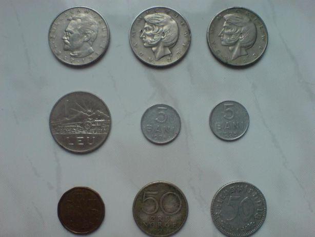 Stare monety:10 Złoty,1 Leu,5 Bani,1 Cent,50 Ore,50 Reichspfennig.