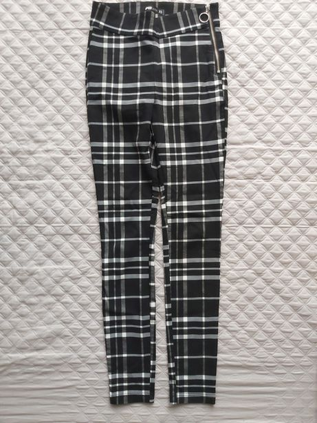 Spodnie damskie Fbsister xs/s krata