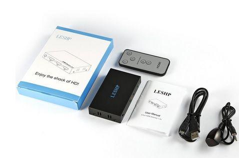 HDMI Switch 3x1 4K+ pilot + kable+ instrukcja (nowy)