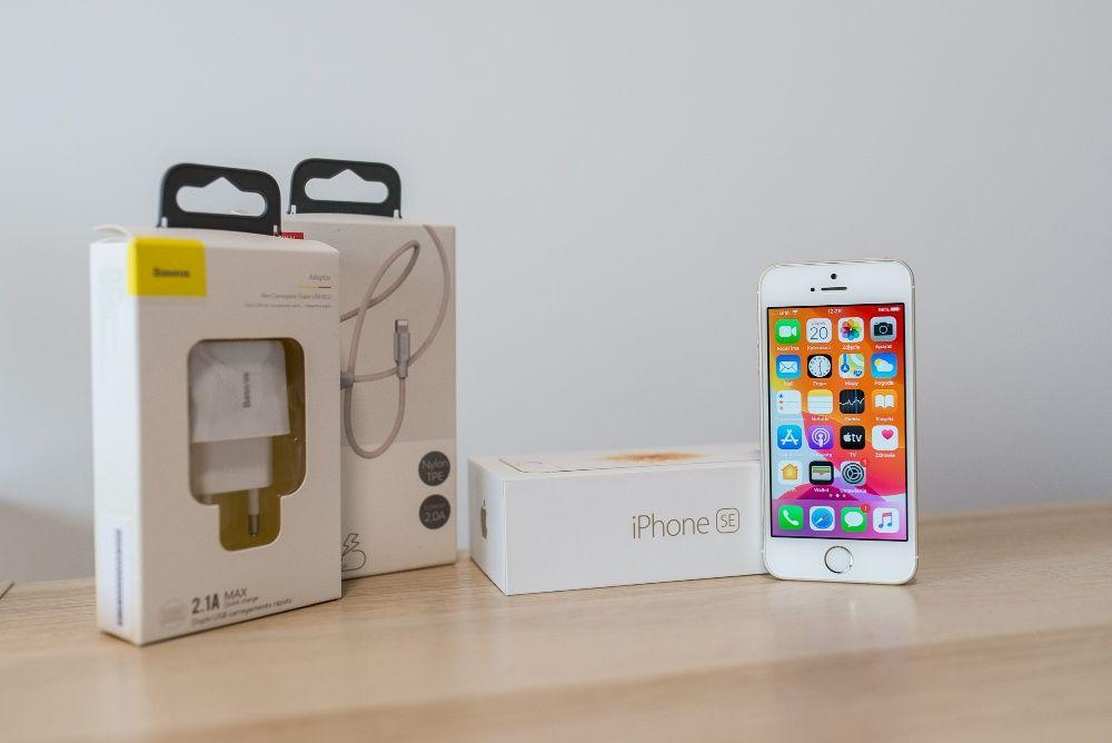 iPhone SE 32GB GOLD | NOWA BATERIA | nowa ładowarka i przewód Białystok - image 1