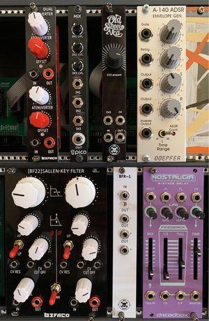 Módulos Eurorack. Sintetizador modular.