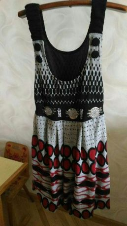 Платье-сарафан (машинная вязка).
