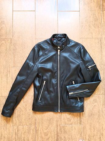 Мужская кожаная куртка Zara