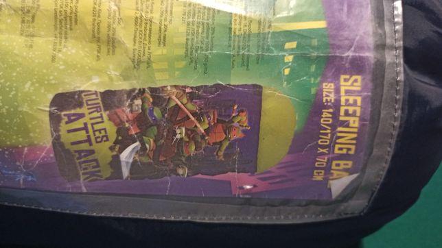 Śpiwòr dla dziecka 140/170x70 żòłwie ninja nowy