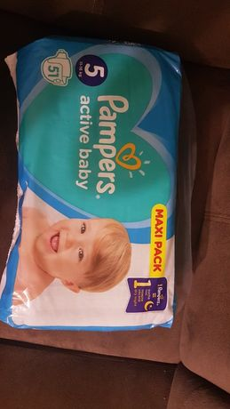 Pampersy pampers active baby 51 szt 1 paczka.