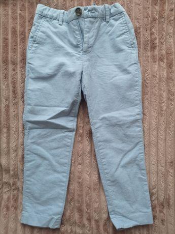 Spodnie turkusowe h&m 110