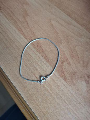 Srebrna cieniutka bransoletka linka 20 cm srebro próba 925