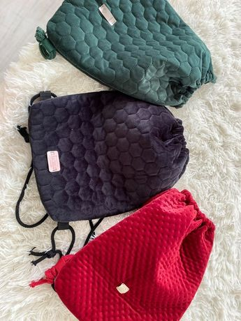 worko - plecak z weluru piękny i praktyczny