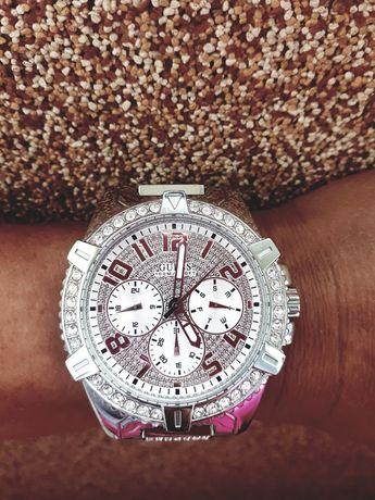 Srebrny zegarek Guess Frontier kors cyrkonie klein męski chanel w0799g