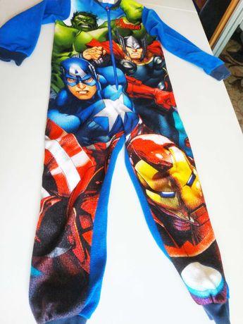 Фирменная пижама, ромпер, новогодний костюм Супергерои на 7-8 лет