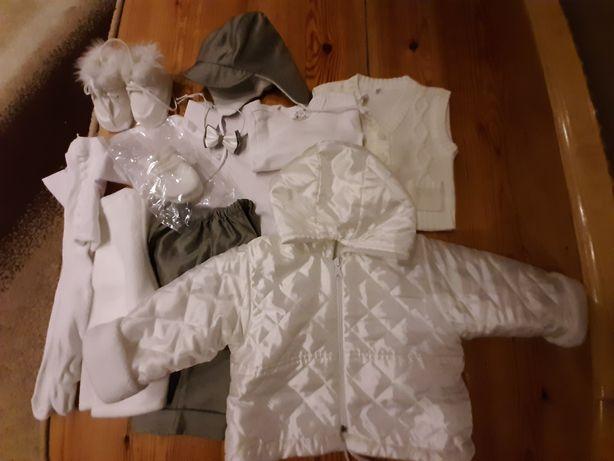 Komplet strój chłopięcy do chrztu roz 62