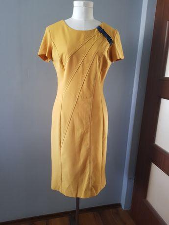 Żółta sukienka 38 M