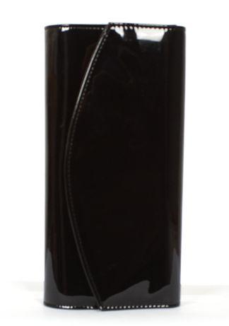 Torebka kopertówka czarna czerwona bordowa lakier lakierowana klasyczn