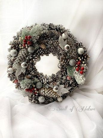Різдвяний декор, новогодний венок, рождественский венок