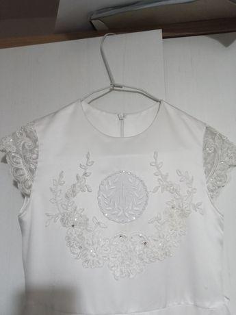 Suknia komunijna + wianek