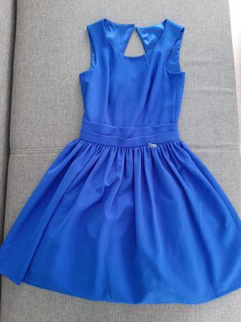 Sukienka XS piękna niebieska elegancka