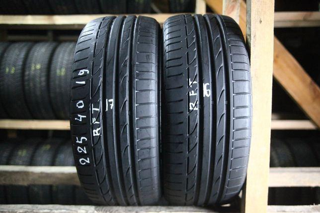 Шини літо 225/40R19 Bridgestone Potenza S001 RFT 16.17рік 2шт