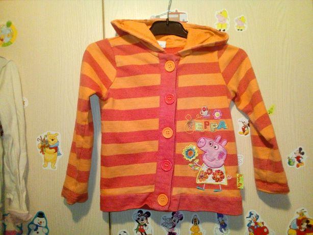 Śliczna bluza Świnka Peppa kaptur 3-4 lata 104 cm