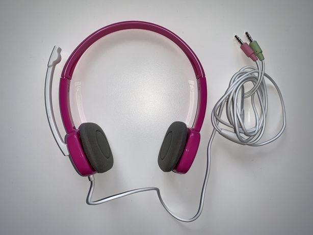 Przewodowe słuchawki nauszne z mikrofonem Logitech Stereo Headset H150