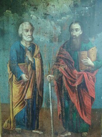 Икона Петра и Павла старинная