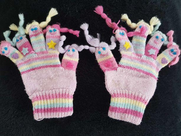 Śmieszne rękawiczki dziewczęce