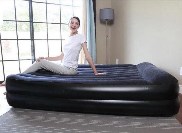 Nowy materac samopompujący wbudowana pompka dwuosobowy