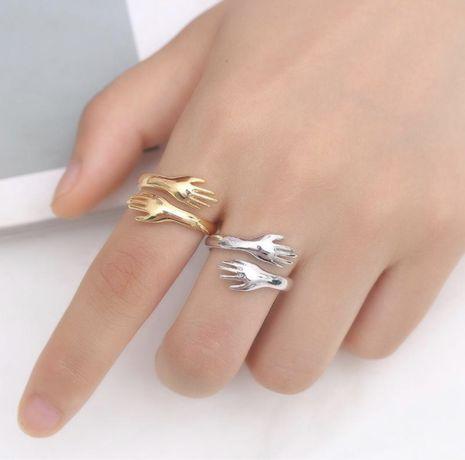 Романтическая рука кольцо Hug кольца открытое кольцо + беспл доставка