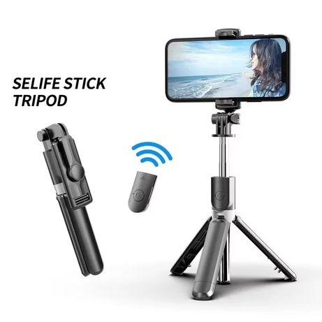 Selfie stick tripé