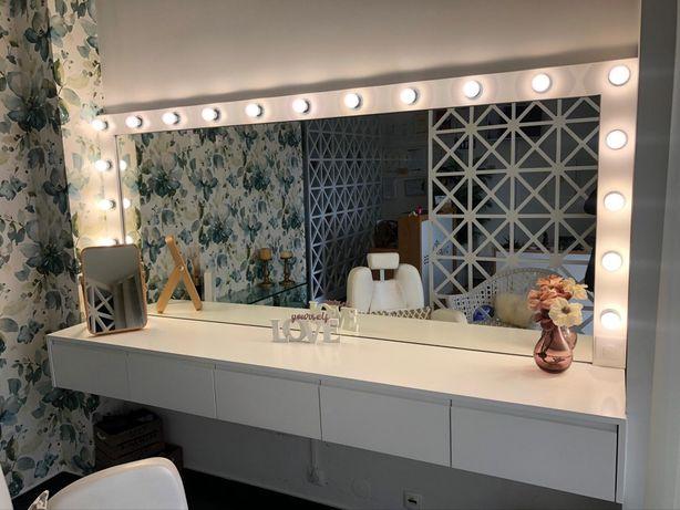 Toucador + espelho c/ 19 lâmpadas