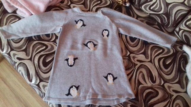 sweterki, tuniki dla dziewczynki 86