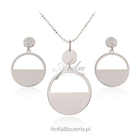 ankabizuteria.pl Biżuteria srebrna - elegancki komplet srebrny