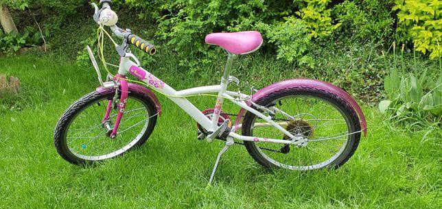 Rower dla dziewczynki BTWIN MISTIGIRL różowy 20 cali Decathlon