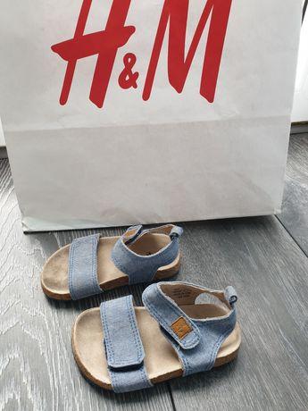 H&M jeansowe sandałki rozmiar 20/21