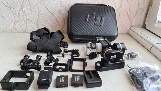 Zestaw Gimbal Feiyu Tech WG + kamera sportowa Git2 Pro
