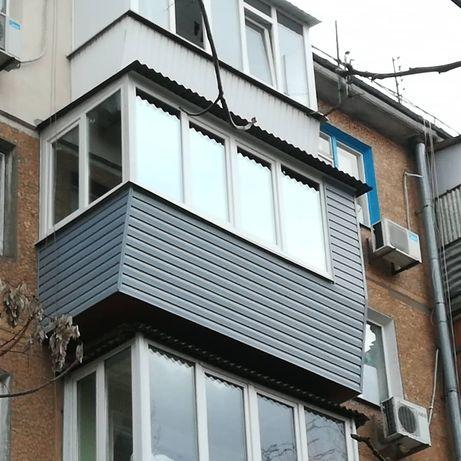 Балкон под ключ, ОКНА,Жалюзи,Роллеты,Двери ,решетки