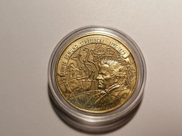 Moneta 2zł Edmund Strzelecki 1997 Nordic Gold WYSYŁKA piękna