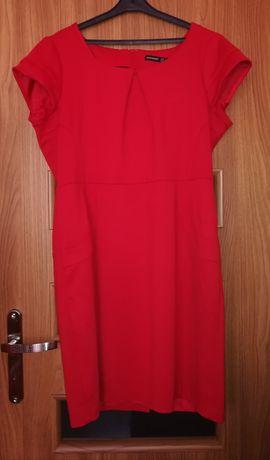 Czerwona, elegancka sukienka Atmosphere