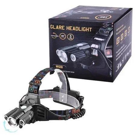 Налобный фонарь аккумуляторный 3 светодиода.